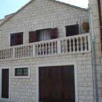 The attractive house, first row to sea, island of Brac