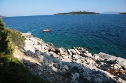 Building lot next to sea, on island Korcula