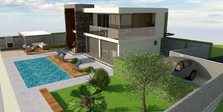 Modern villa with pool for sale, Sibenik