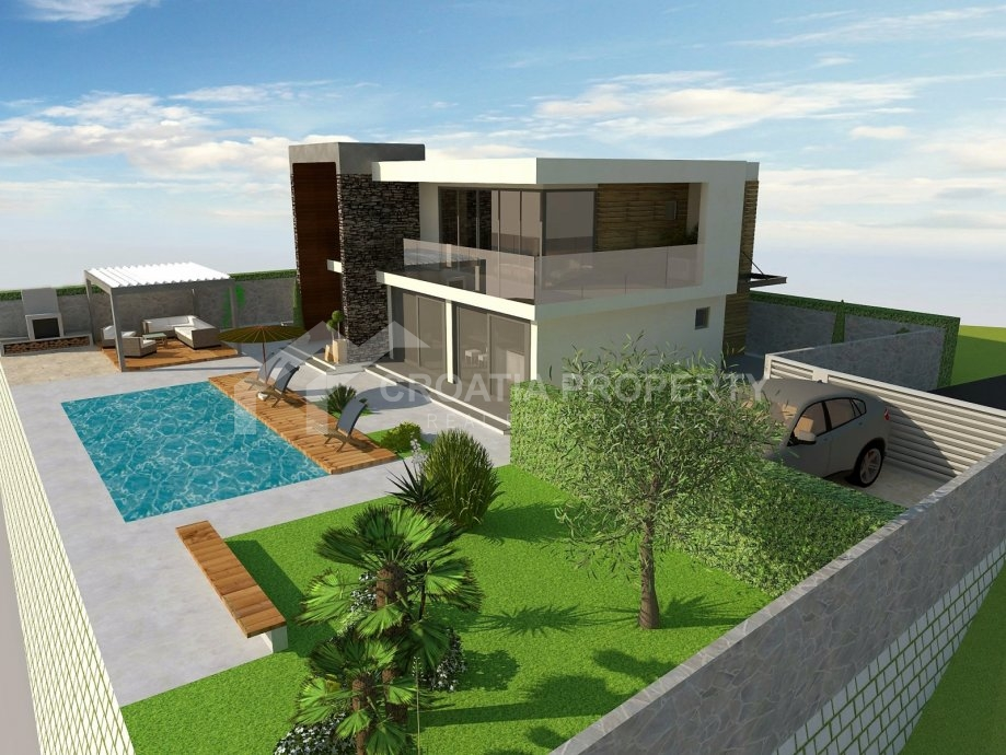 Modern villa with pool for sale sibenik croatia property for Pool design villa