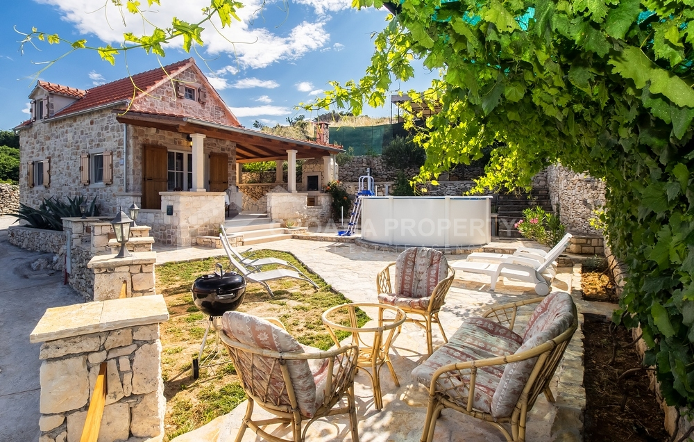 Renovated stone house on Brac