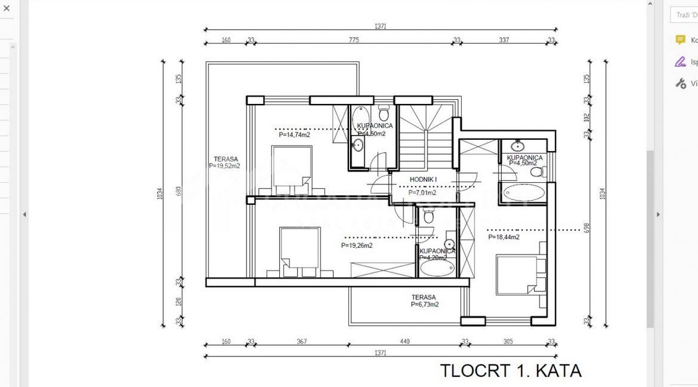 Zatoglav villa (7) - prvi kat tlocrt 1 - 1980 - photo (7)
