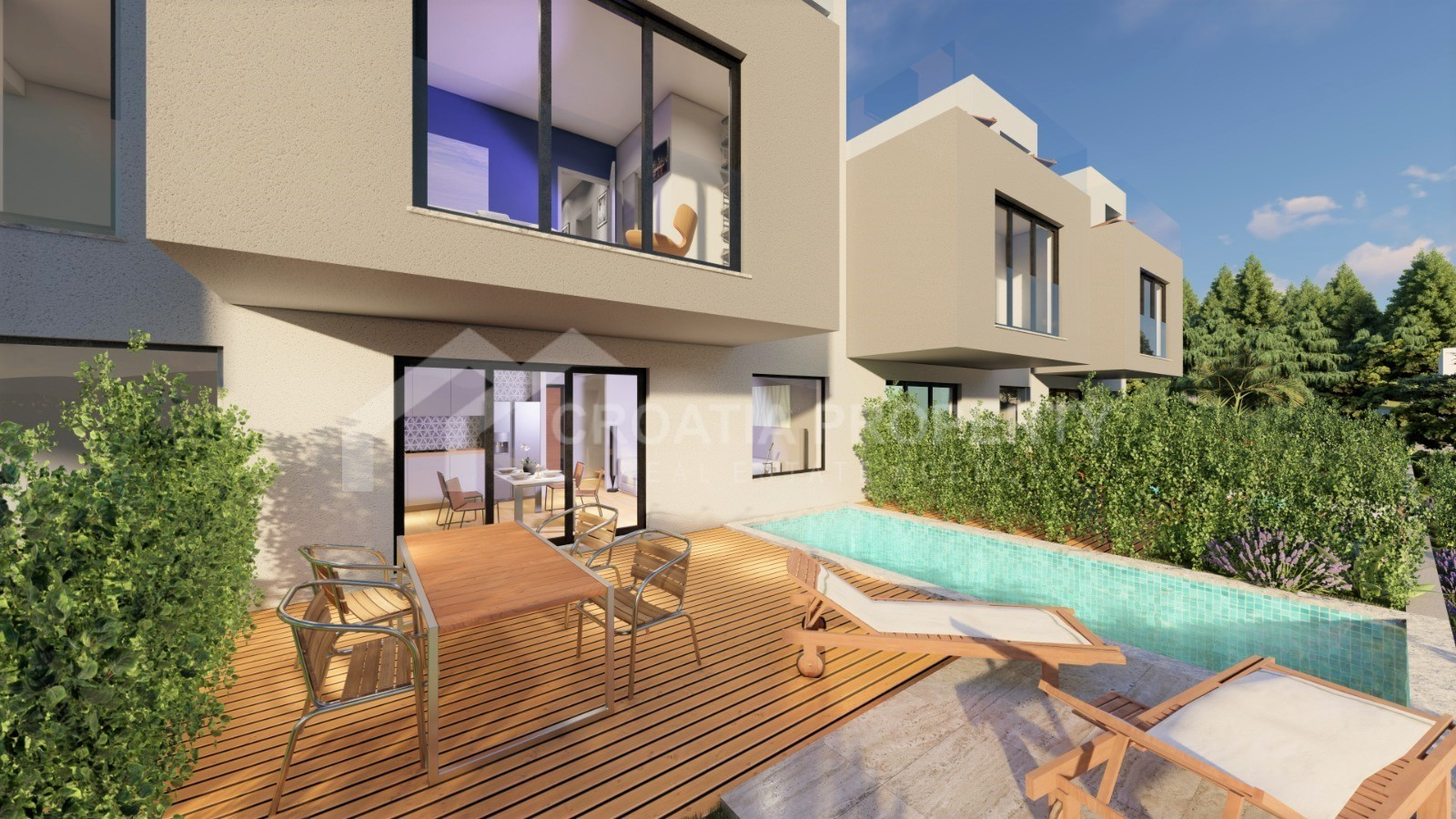 Modern villas with seaview Ciovo