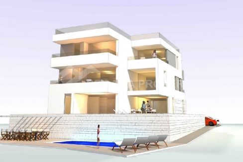 Attractive apartments sea view Ciovo - 2036 - front view (1)