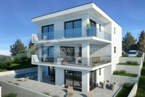 Seaview villa near sea Rogoznica - 2059 - front view (1)