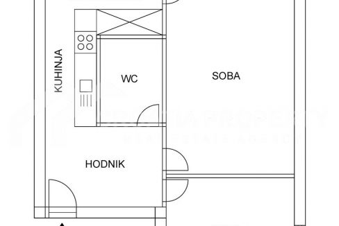 Two bedroom apartment in Split - 2112 - layout (1)