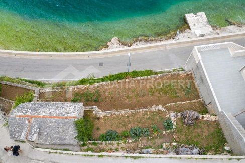 Waterfront building plot on Brač - 2116 - air view (1)
