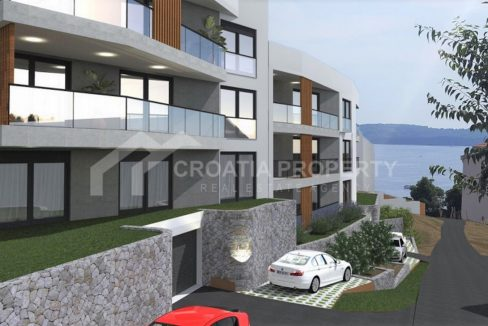 Newbuilt two bedroom apartments Trogir - 2141 - side view (1)