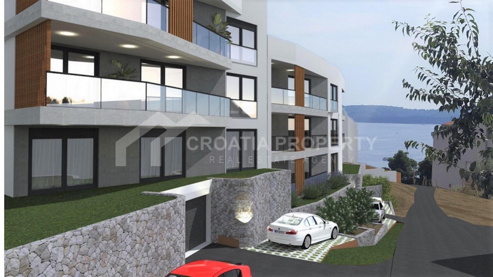 Novoizgrađeni dvosobni apartmani Trogir