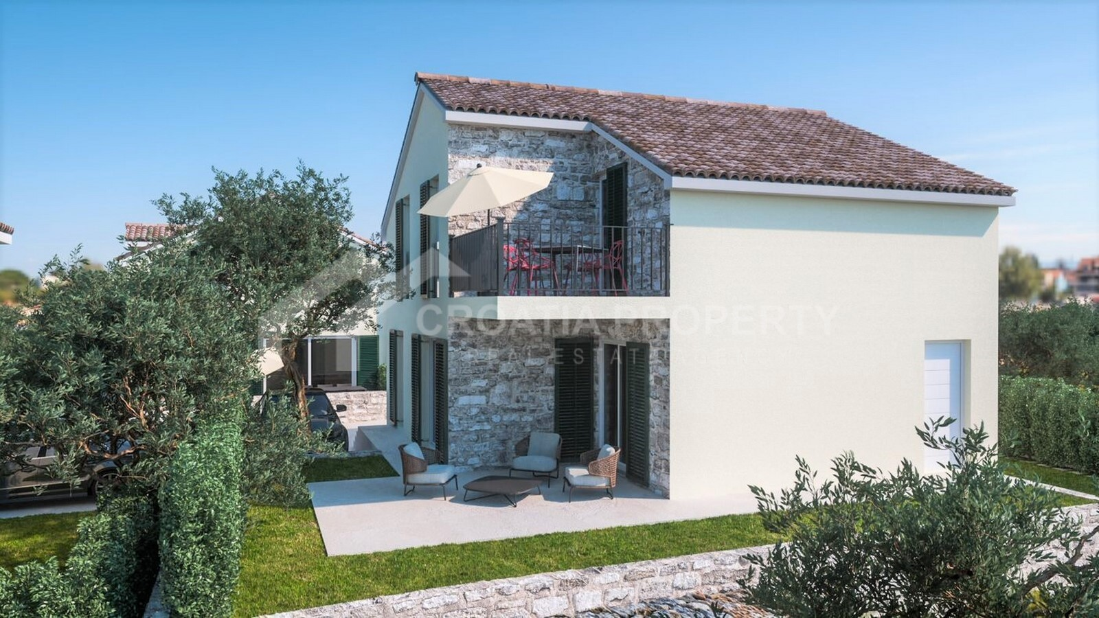 Newly built house near Sibenik