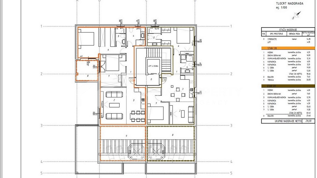 Penthouse apartment Ciovo newly built - 2248 - photo (3)